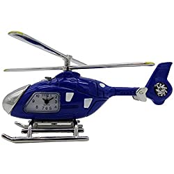 Pilot Toys Blue Helicopter Desk Clock