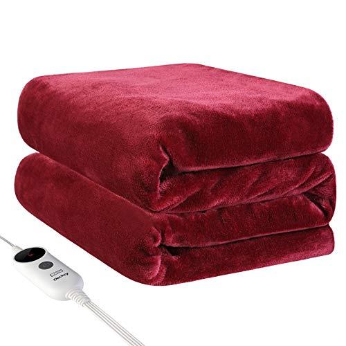 "Deckey Electric Heated Blanket Throw 50"" x 60"",Heating Blanket Throw..."
