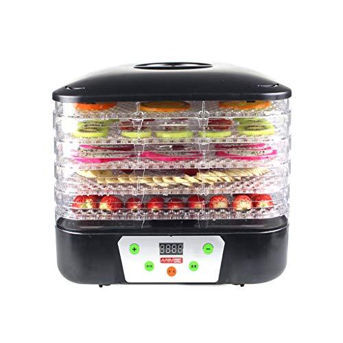 Levensmiddelconserveringsmachine, fruitdroger, digitaal stil 5-laags ABS-bakje, instelbare temperatuur-ingestelde tijd voor drogende vlees- groenten en fruit hondenvoer.