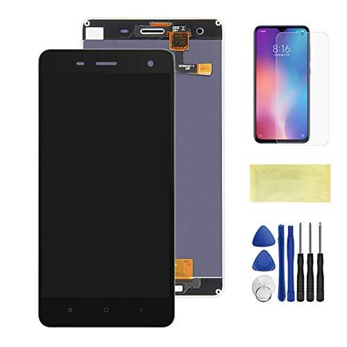 Pantallas LCD para teléfonos móviles Pantalla LCD + Montaje digitalizador de Pantalla táctil con reemplazo de Marco/Ajuste para Xiaomi MI 4 M4 MI4 LCD (Color : Black No Frame)