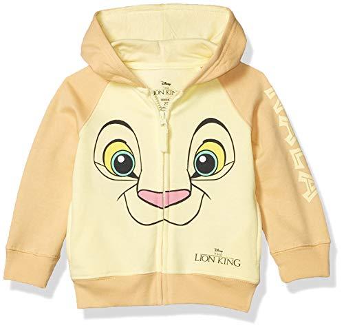 Disney Baby Girls' Toddler Hoodie, Yellow/Beige, 3T
