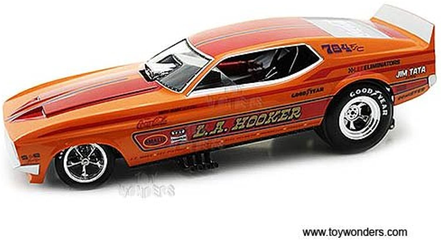 AW1106 1971 L.A. 48j2y0q6fo3 Hooker Ford Mustang NHRA Funny Car AW1106 1 18 Scale 41xfs248q9f World Legends car car AW1106 World Legends of The Quarter Mile