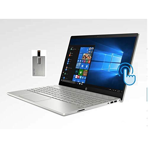 "2020 HP Pavilion 15.6"" HD Touchscreen Laptop Computer, AMD Ryzen 7-3700U Processor, 32GB RAM, 1TB HDD+1TB SSD, HD Webcam, Radeon Vega 10 Graphics, USB-C, Windows 10, 32GB SnowBell USB Card"