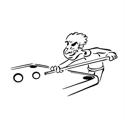 Wandtattoo Cartoon Billiard Wandaufkleber Sport Athlet Outline Wohnzimmer Comic Modell Home Decor Vinyl Kindergarten Aufkleber 97 * 58 cm