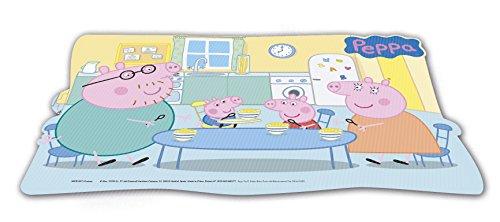 Peppa Pig 2018 Mantel Individual Producto de plástico; Libre BPA; Dimensiones 43x29 cm