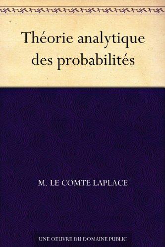 Couverture du livre Théorie analytique des probabilités