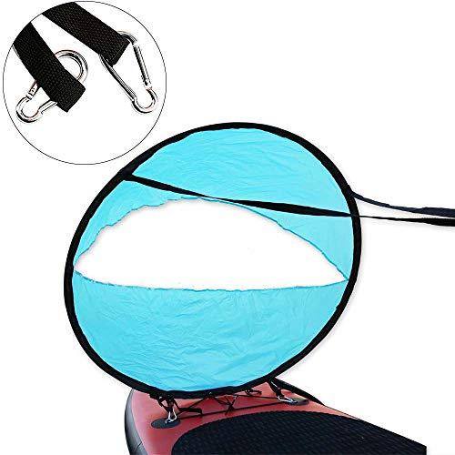SANGDA Ruderboot Segel, faltbares Kajak Boot Windsegel Sup Paddle Board Segeln Ruderboot mit klarem Fenster Tragbares Windsegel für aufblasbare Boote Kajaks Kanus 52 blau
