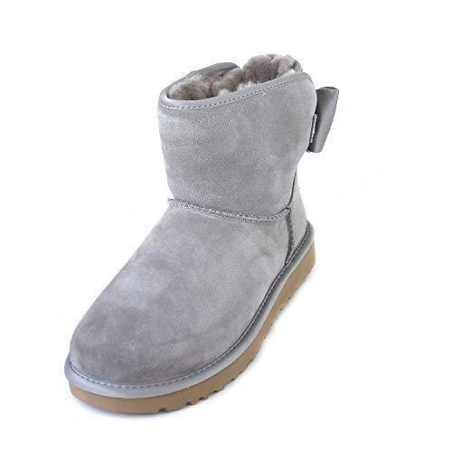UGG® Satin Bow Mini Damen Stiefel ,Grau,39 EU