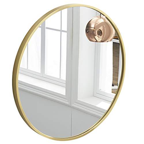Specchi Bagno Frame Specchio Tondo in Legno A Parete Specchio da Toilette Trucco con Wall Hanging Hardware di Fissaggio per Bagno Bagno Oro 3 Formati Disponibili