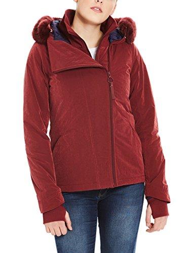 Bench Damen CORE Asymmetrical Jacket Jacke, Rot (Cabernet Rd11343), X-Large
