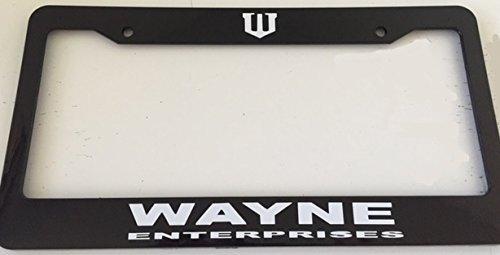 Strawbaru Wayne Enterprises - Automotive Black License Plate Frame -