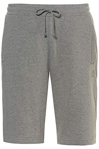 JP 1880 Herren große Größen bis 8XL, Bermuda-Shorts, Kurze Jogginghose mit elastischem Bund, Sweat-Pants mit 2 Taschen grau-Melange 8XL 702636 12-8XL