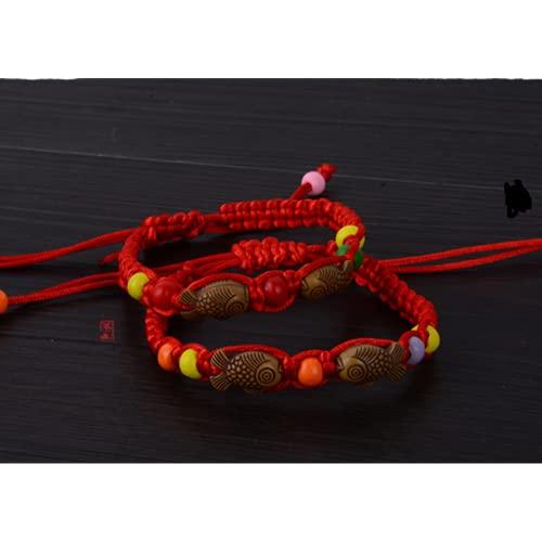 Dfngiq Festival de Barco Dragón de los niños Festival Colorido Cuerda de la Cuerda Kindergarten Regalo para Enviar Pulsera Infantil Five Color Rope Regalos