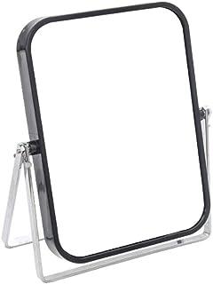 MXD Mirror Makeup Mirror Desktop Princess Mirror Vanity Mirror Student Dormitory Desktop HD Double Sided Mirror Black
