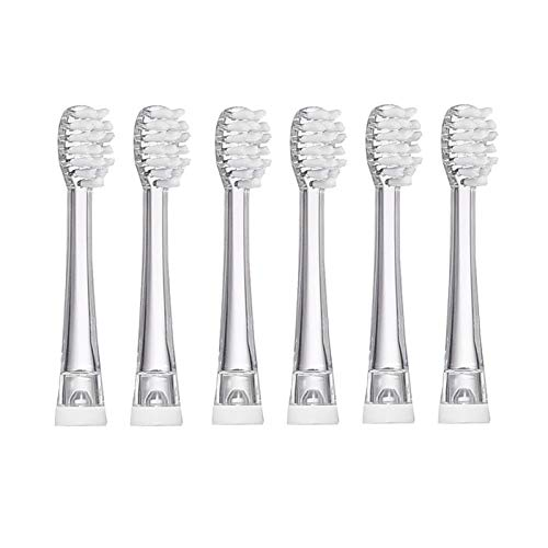 SEAGO Toothbrush Replacement Heads, 6 Pack SEAGO Kids Toothbrushes Heads for Toddlers, Compatible with SEAGO Electric Toothbrushes Kids SG977, SG513