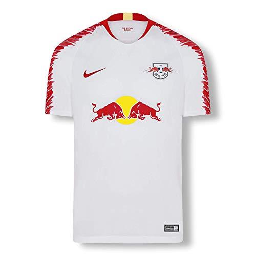 RB Leipzig Home Trikot 18/19, Weiß Herren Medium T Shirt, RasenBallsport Leipzig Sponsored by Red Bull Original Bekleidung & Merchandise