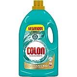Colon Advanced Higiene - Detergente para Lavadora con activos higiénicos y elimina olores, adecuado para Ropa Blanca y de Color, formato Gel - 64 dosis