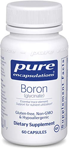 Pure Encapsulations - Boron (Glycinate) - Hypoallergenic Supplement for Healthy Nutrient and Hormone Utilization - 60 Capsules