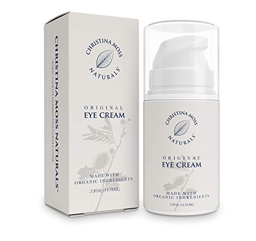 Eye Cream Moisturizer - Under Eye Wrinkle Repair Firming Cream - Organic Aloe & Essential Oils - Soothes Puffiness, Reduces Bags & Dark Circles. Skin Care For Eyes, Unscented, Christina Moss Naturals