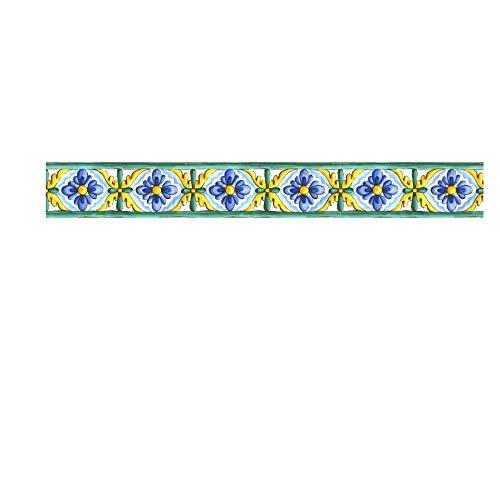 azulejos adhesivos cocina,Pegatinas de azulejos de cintura de grano retro, pegatinas de pared de advertencia para baño y cocina -008