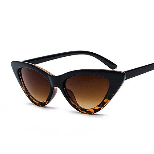 Aolvo Occhiali da sole a specchio in stile retrò a occhi di gatto, occhiali da sole unisex a triangolo, montatura leggera, lenti HD polarizzate (Nero), C4, Standard