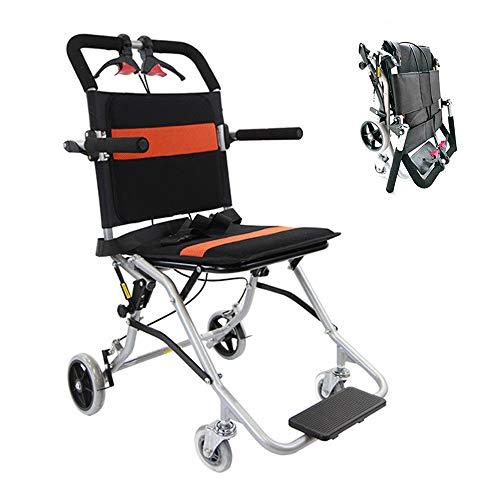 車椅子 介助型 折り畳み式車椅子 軽量 簡易車椅子 旅行用 車いす 介護・介助用 超軽量折り畳み車椅子 介助ブレーキ付き 車イス 旅行袋付き 背面ポケット付き 旅行用 外出用