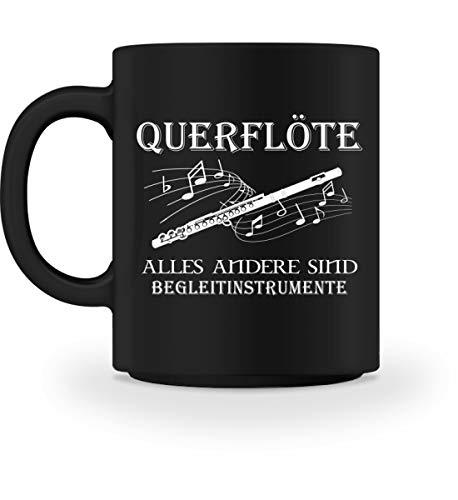 Querflöte Shirt · Musiker · Blasmusik · Musik · Musikinstrument · Musikverein · Hobby · lu - Tasse -M-Schwarz