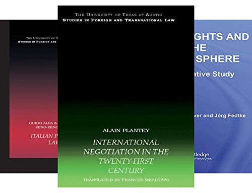 UT Austin Studies in Foreign and Transnational Law (10 Book Series)