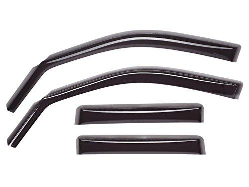 WeatherTech Custom Fit Front & Rear Side Window Deflectors for Toyota Tundra Double Cab, Dark Smoke