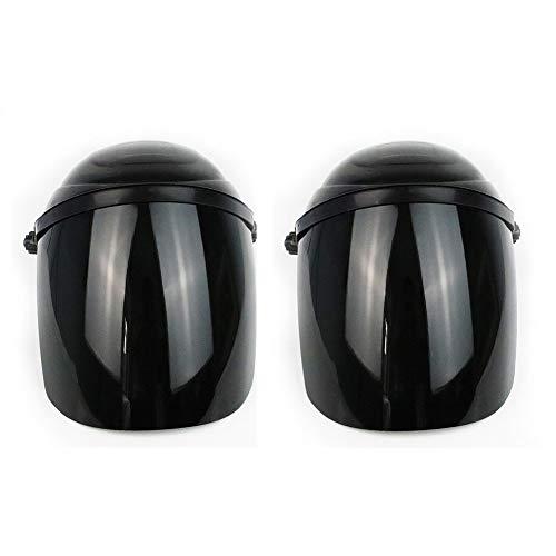 Helmet Casco con Visera,Cascos de Trabajo, Casco de Seguridad de ventilación, Máscara de Seguridad con Visera y Protector Transparente