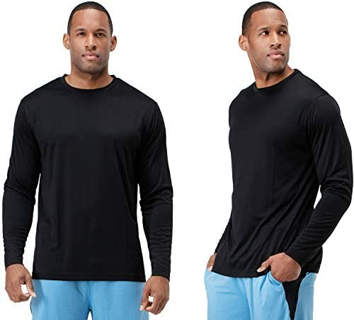 DEVOPS Men s 2 Pack UPF 50 Sun Protection Long Sleeve Dri Fit Fishing Hiking Running Workout product image