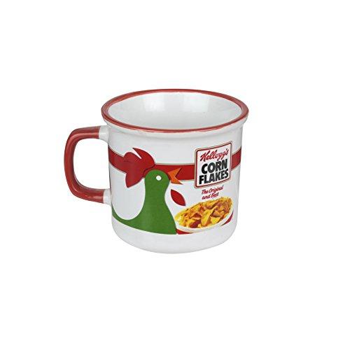 KELLOG'S KG30503 - Taza de cerámica, color blanco rojo, 12 x 9 x 8,3 cm