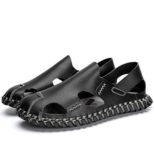 KDOAE Sandalias de Verano Sandalias de Diapositivas para Hombres Zapatillas de Playa Interior y al Aire Libre Adecuado para Deportes al Aire Libre Senderismo (Color : Black, Size : 38)