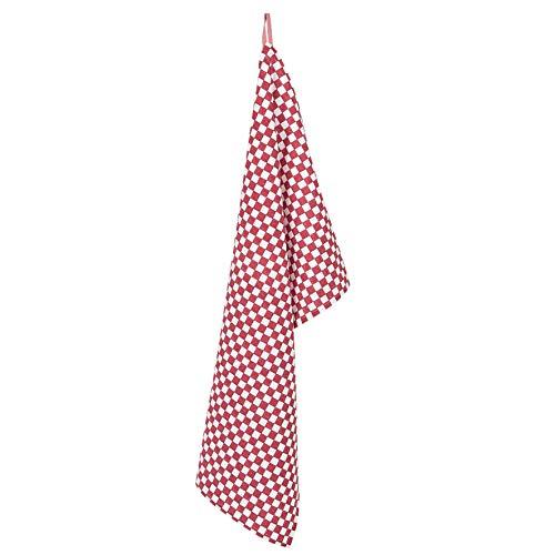 Clayre & Eef PPL42C keukendoek/vaatdoek Rettich rood 50 * 85 cm 100% katoen landelijke stijl