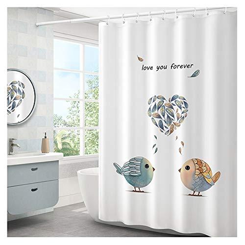 & accessoires voor de badkamer, anti-schimmel douchegordijn, robuust, waterdicht, extra breed, 100% polyester, hoogwaardig, voor de badkamer 200X220cm