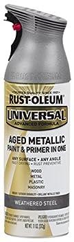 Rust-Oleum 285073 Universal All Surface Spray Paint 11 oz Aged Metallic Weathered Steel