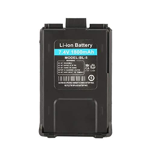 bansd Batería de Iones de Litio de 1800 mAh para Baofeng UV-5R UV-5RE Walkie Talkie Radio bidireccional Negro