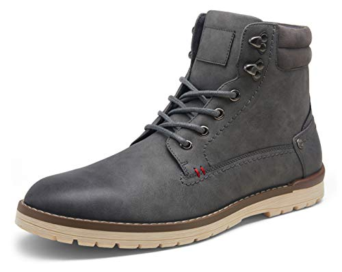 Vostey Men's Chukka Boots Motorcycle Casual Hiking Boot for Men(BMY671B Grey 13)