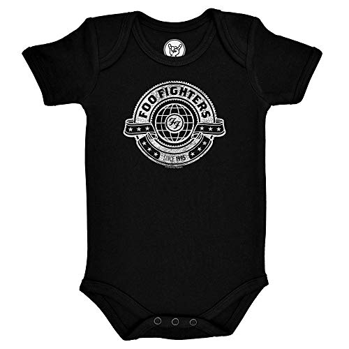 Metal Kids FOO Fighters (World) - Baby Body, schwarz, Größe 56/62 (0-6 Monate), offizielles Band-Merch