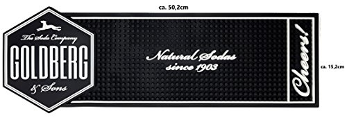 "Goldberg Barmatte Gummimatte - ""Natural Sodas since 1903"""