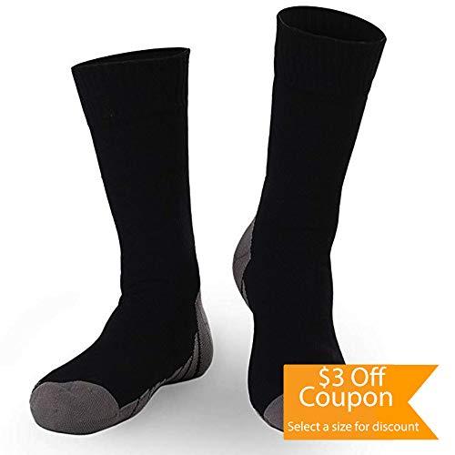 Calcetines 100% Impermeables para Hombres y Mujeres. Ideal para Deporte al Aire Libre. (Negro y Gris)
