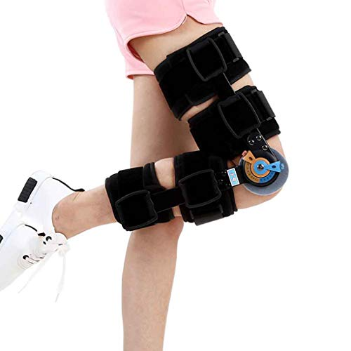 Hinged Knee Brace Support Gelenk-Kniebandage mit Gelenkgelenk verstellbare medizinische Orthopädie zur Wiederherstellung von stabilem Gelenkknie-Kniekissen Roscloud@