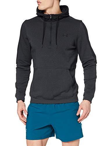 Under Armour Microthread Fleece 1/2 Zip, Felpa Uomo, Nero (Black/Black/Black), XL