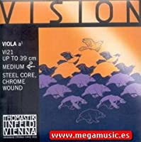 CUERDA VIOLA - Thomastik (Vision/VI21) (Acero/Entorchado Cromo) 1ェ Medium Viola 4/4