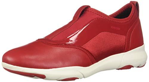 Geox D Nebula S Zapatillas de Deporte de Cuero para Mujer