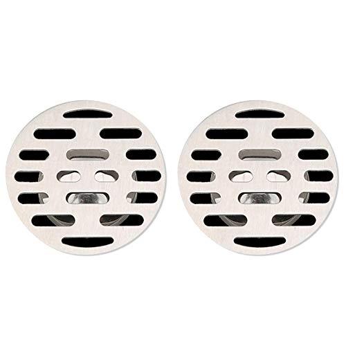 2 tapones de baño para cubrir el pelo y drenar el fregadero, antiobstrucción, silicona