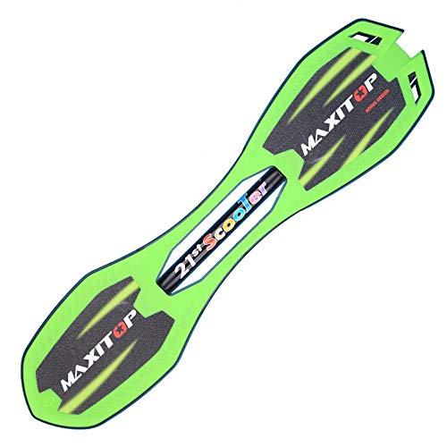 Lernen Sie in kürzester Zeit das Üben und Landen v Caster Board - Anti-Rutsch-konkavierte Plattform zum Surfen 2-Rollen-Leichtgewicht-Tragbares Caster-Waveboard ( Farbe : Grün , Größe : 76*15*18.5cm )