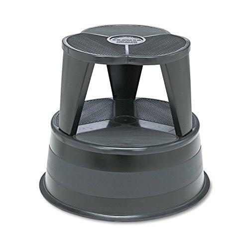 Cramer ®-Original Kik Step Stahl, Tritthocker, 15-5 Durchmesser x 8 -14H, 300lb Rating Duty, schwarz, Feder, auf Rollen geschoben begonnen werden, wenn der Hocker ist.