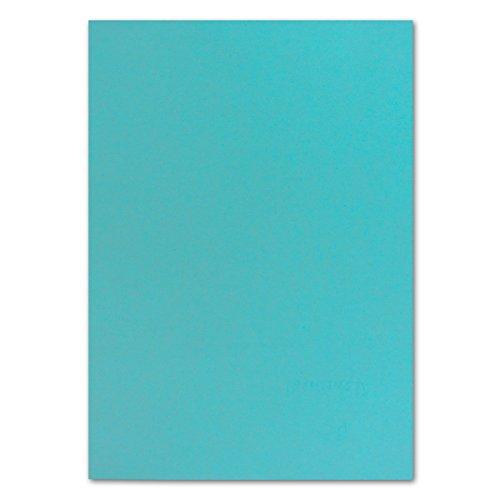 50 DIN A4 Papier-bögen Planobogen -Türkis - 240 g/m² - 21 x 29,7 cm - Bastelbogen Ton-Papier Fotokarton Bastel-Papier Ton-Karton - FarbenFroh