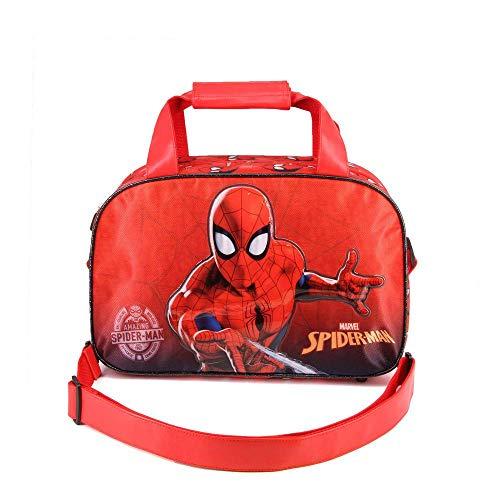 Karactermania Spiderman Spiderweb-Sports Bag Kinder-Sporttasche, 38 cm, Rot (Red)